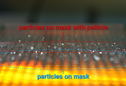 Mask/Reticle particles inspection Under collimated blue light